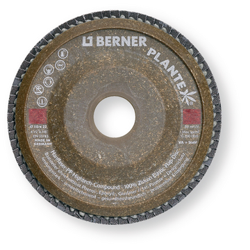 Abrasive Mop Disc 125 mm with curved Hemp Backing Pad P120